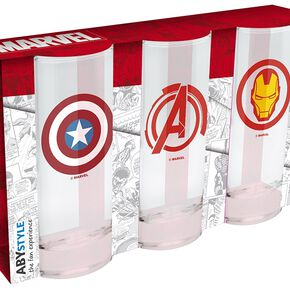 Marvel Set of 3 Glasses