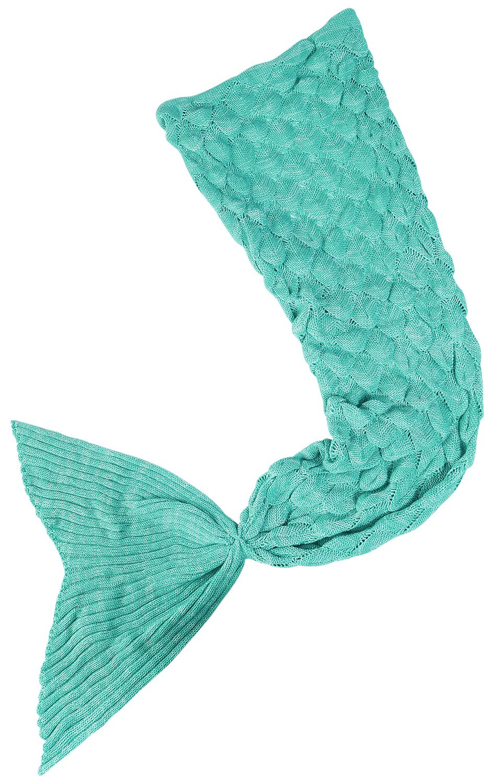 Meerjungfrau Decke Fleece-Decke blau