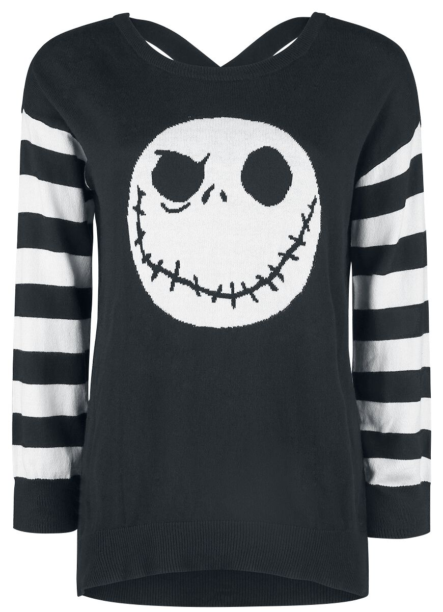 Image of   The Nightmare Before Christmas Jack Kopf Girlie sweatshirt sort-hvid