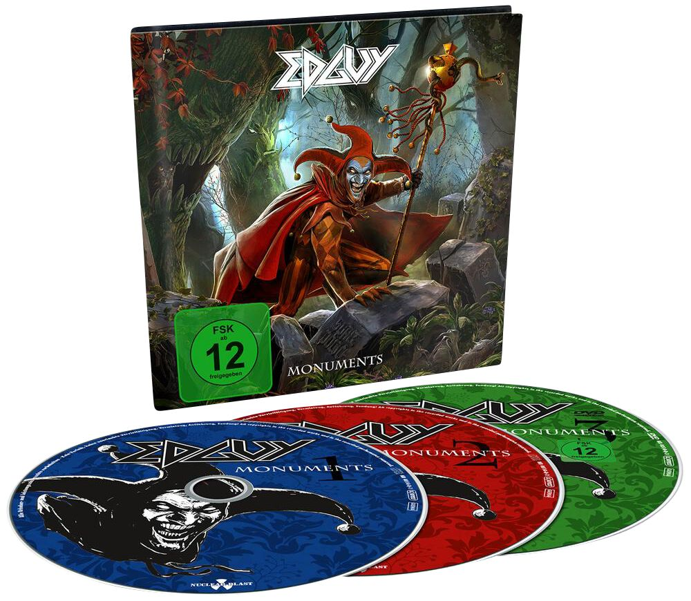 Edguy Monuments 2-CD & DVD Standard