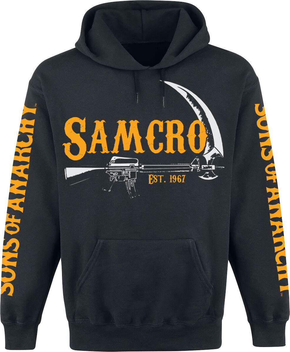 Merch dla Fanów - Bluzy z kapturem - Bluza z kapturem Sons Of Anarchy Samcro - EST. 1967 Bluza z kapturem czarny - 360879