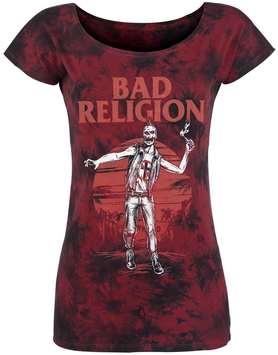 Zespoły - Koszulki - Koszulka damska Bad Religion Punk Apocalypse Koszulka damska bordowy - 360892