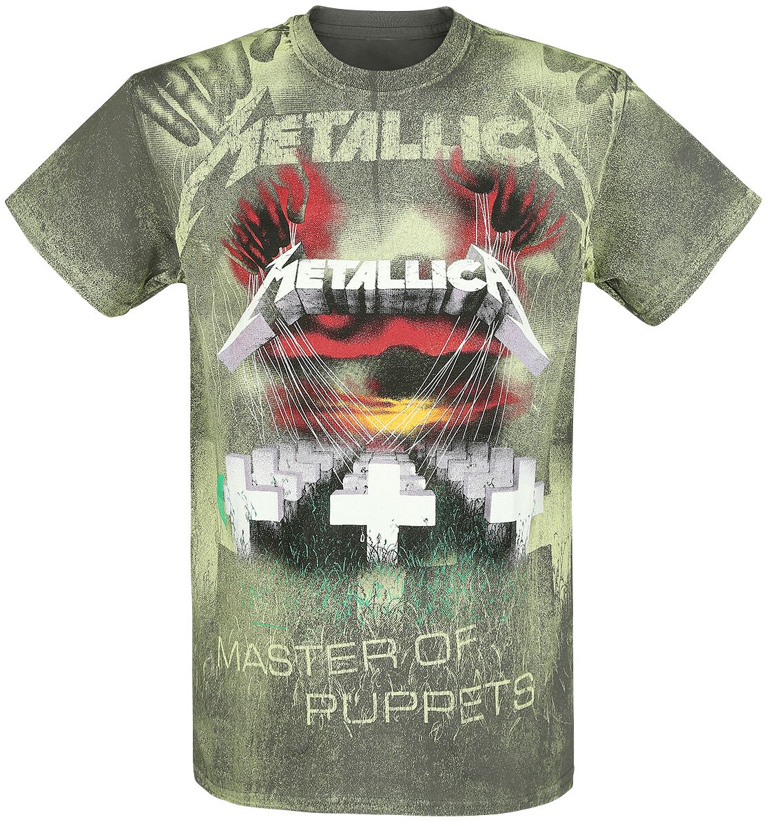 Image of   Metallica Master Of Puppets - Allover T-Shirt koks