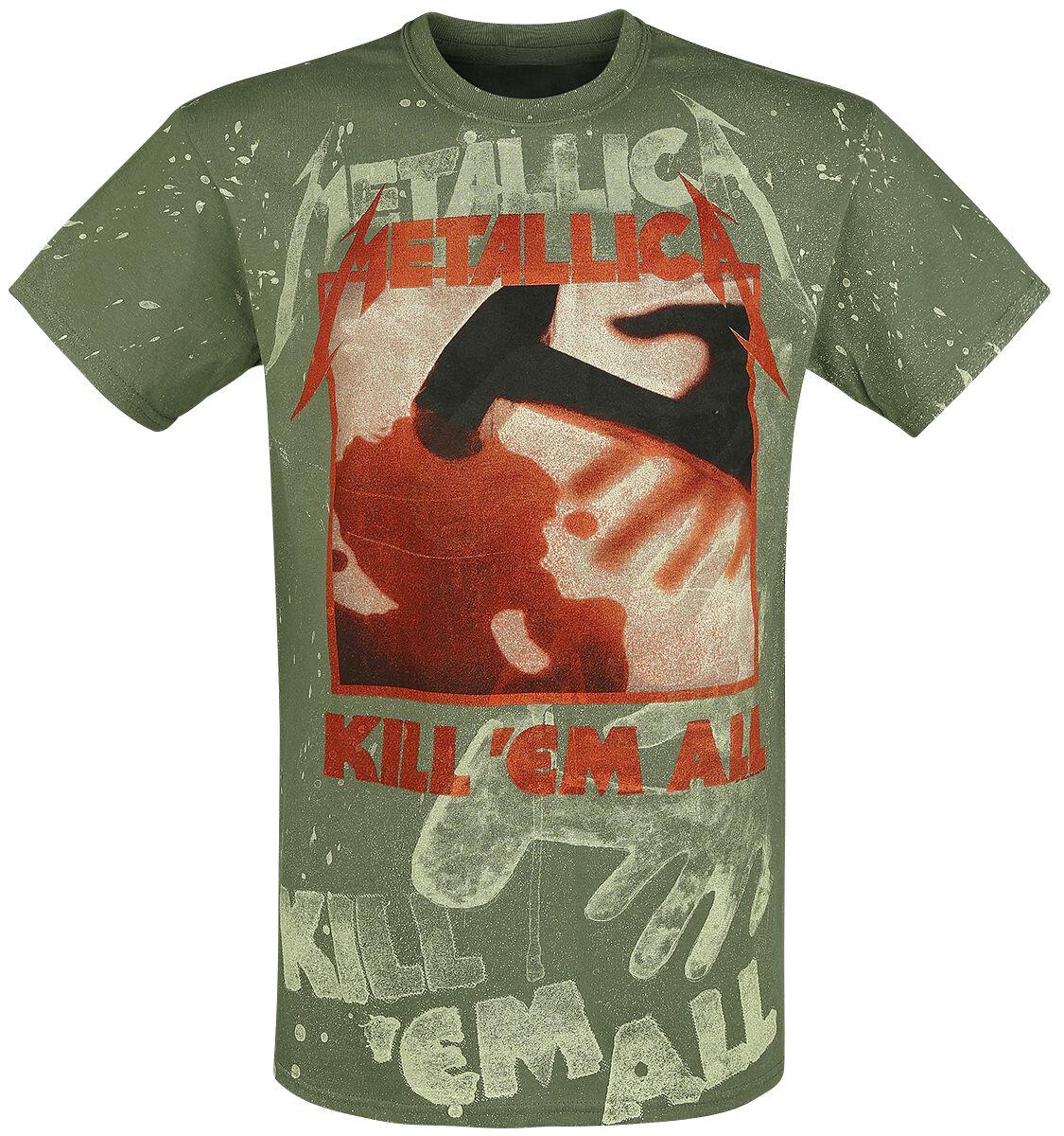 Image of   Metallica Kill 'Em All - Allover T-Shirt olivengrøn