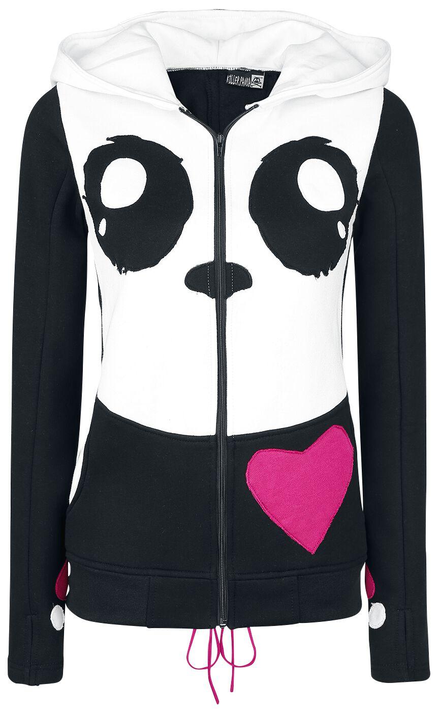 Marki - Bluzy z kapturem - Bluza z kapturem rozpinana Killer Panda KP Cosplay Hood Bluza z kapturem rozpinana czarny/biały - 360938