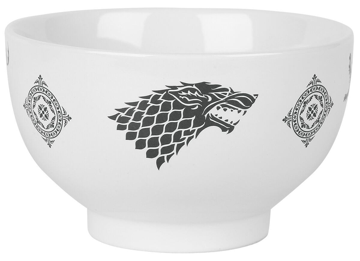 Image of   Game Of Thrones Crest Dyb tallerken sort-hvid