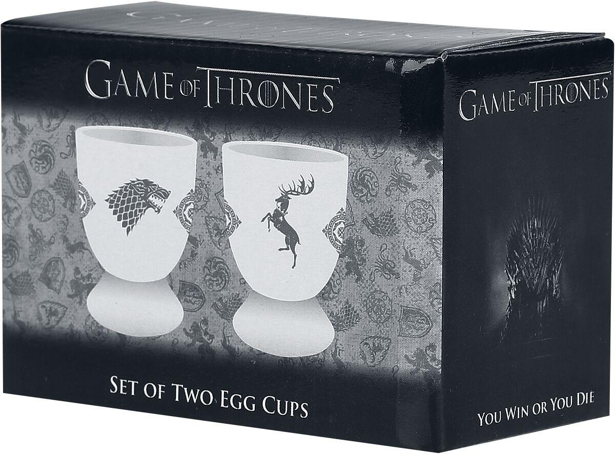 Image of   Game Of Thrones Crest Æggebæger sort-hvid
