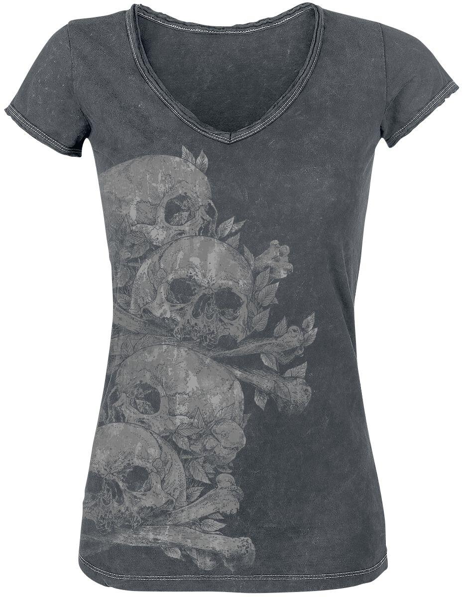 Image of   Black Premium by EMP Aftermath Girlie trøje antracit