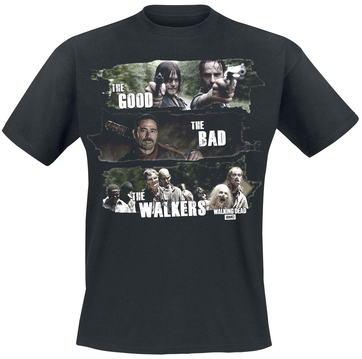 Image of   The Walking Dead Good, Bad, Walkers T-Shirt sort