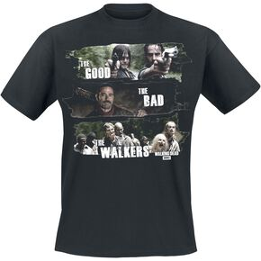 The Walking Dead Good, Bad, Walkers T-shirt noir