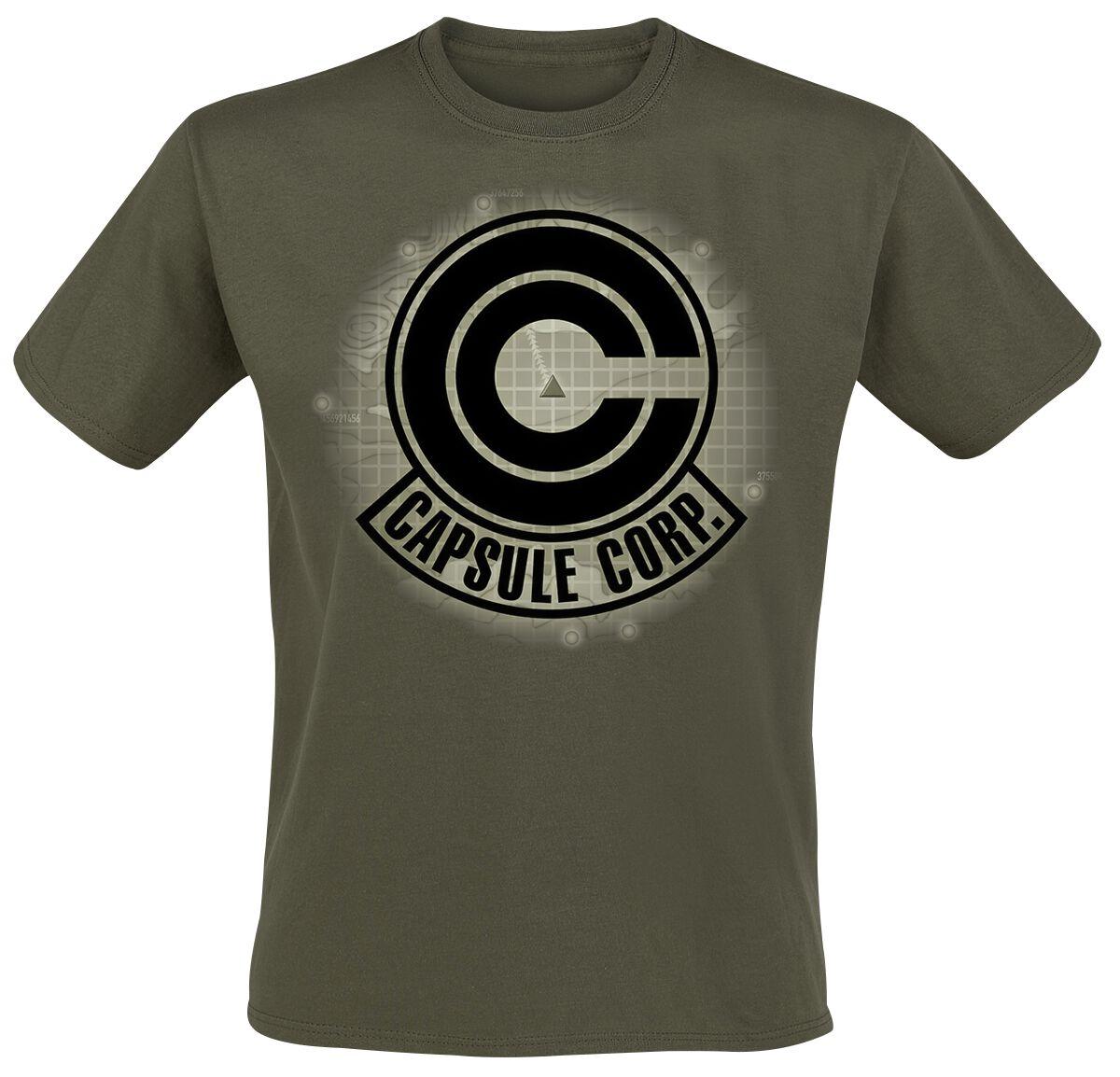 Merch dla Fanów - Koszulki - T-Shirt Dragon Ball Z - Capsule Corp. T-Shirt khaki - 361086