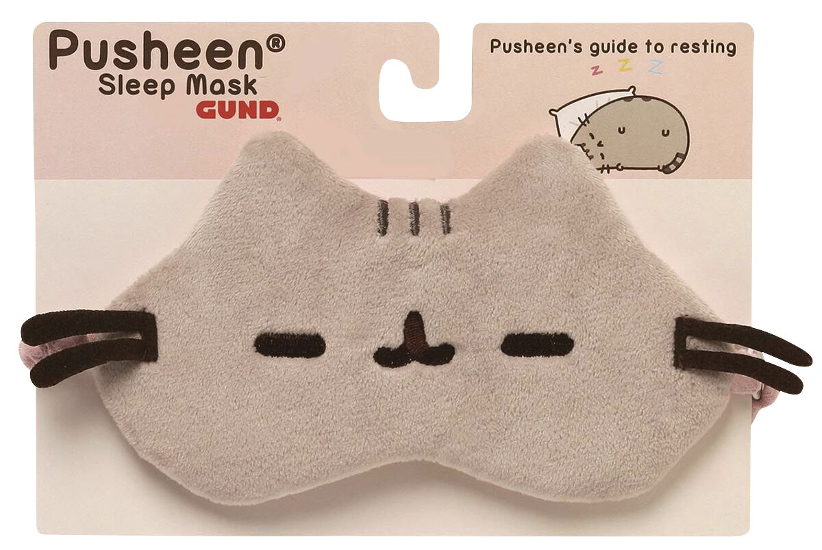 Merch dla Fanów - Do sypialni - Nocna opaska na oczy Pusheen Pusheen Sleeping Mask Nocna opaska na oczy brązowy - 361163