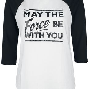 Star Wars May The Force Manches Longues Femme blanc/noir