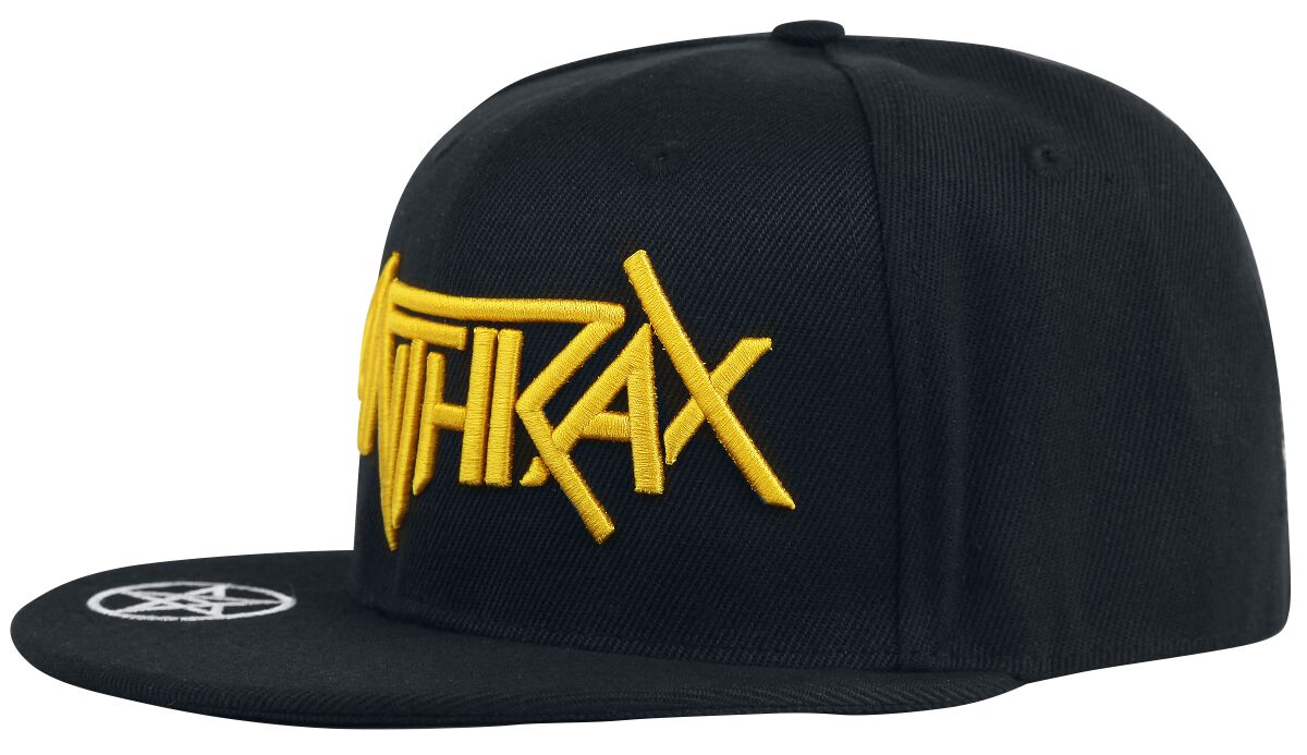 Zespoły - Czapki i Kapelusze - Czapka Snapback Anthrax Logo Czapka Snapback czarny - 361245