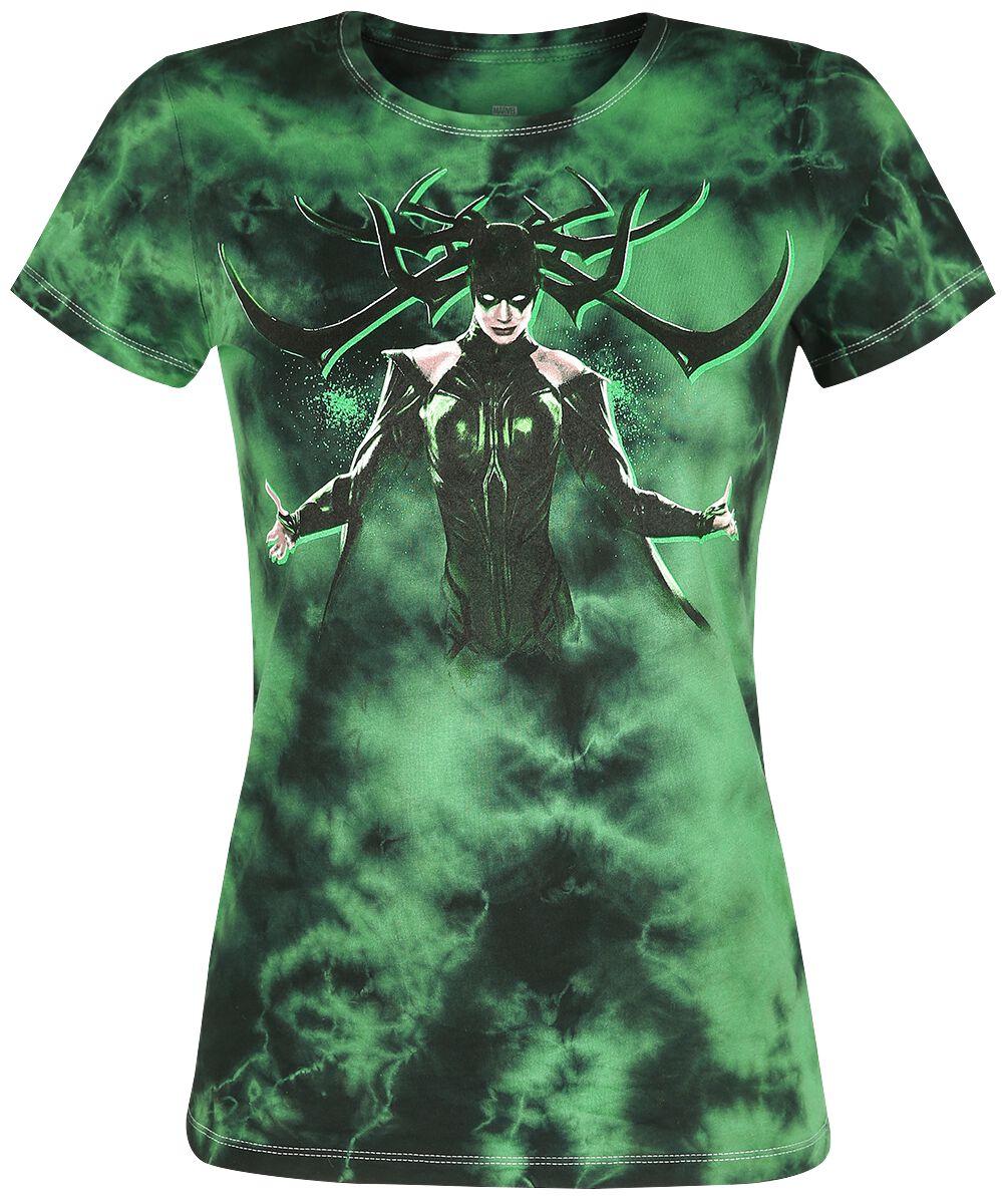 Image of   Thor Her Universe - Hela Girlie trøje grøn/mørk grøn