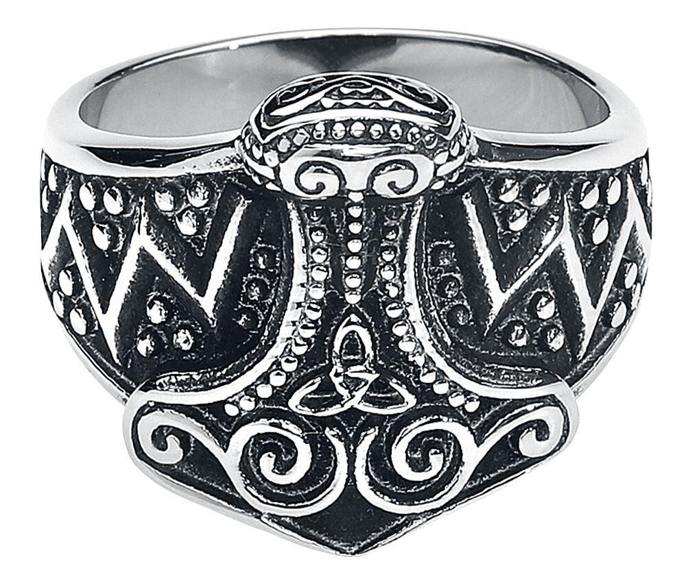 Basics - Pierścienie - Pierścień etNox Hard and Heavy Thor's Hammer Pierścień srebrny - 361292
