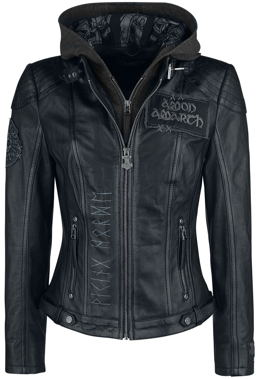 Image of   Amon Amarth EMP Signature Collection Girlie læderjakke sort