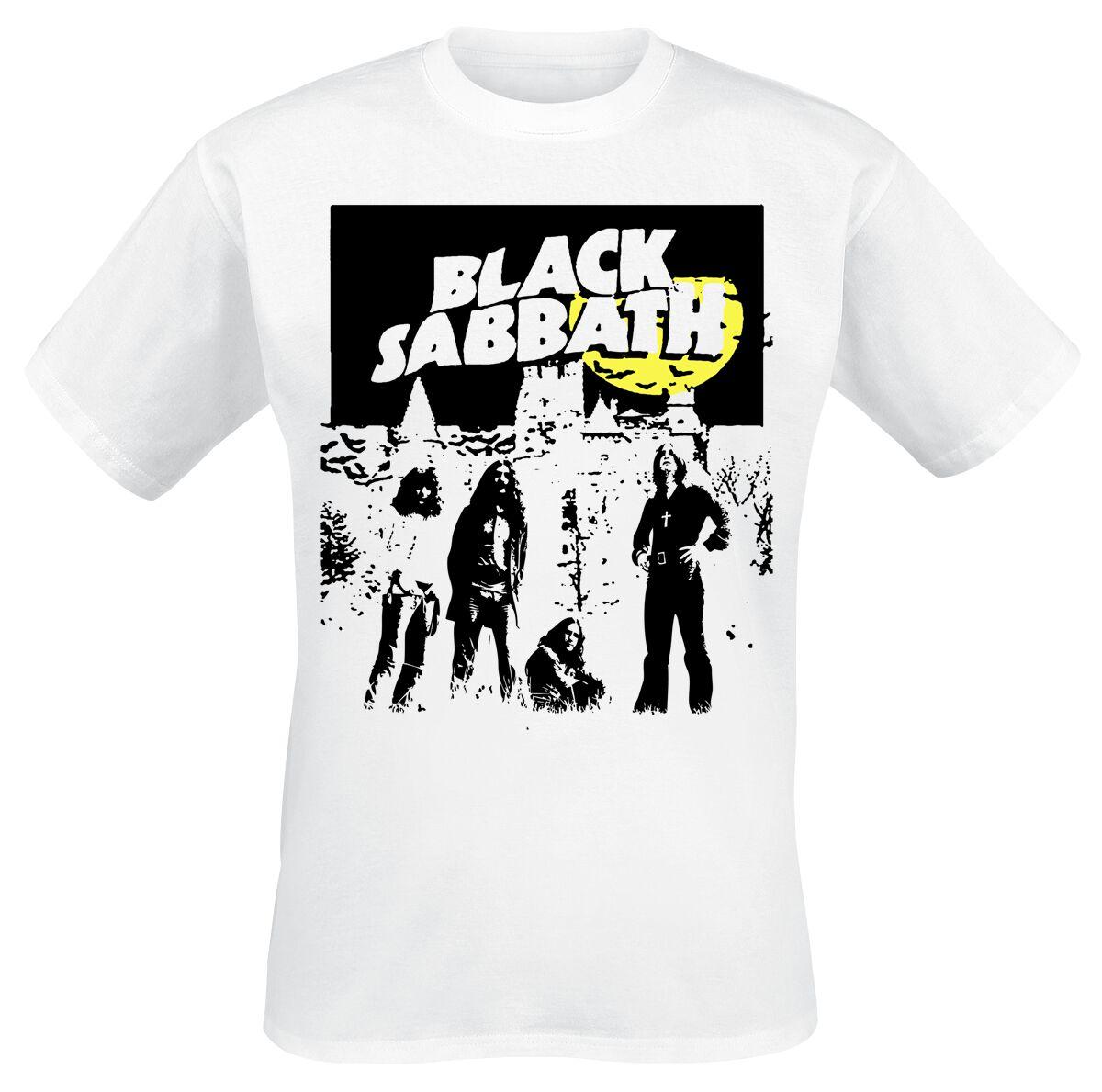 Image of   Black Sabbath Yellow Moon T-Shirt hvid