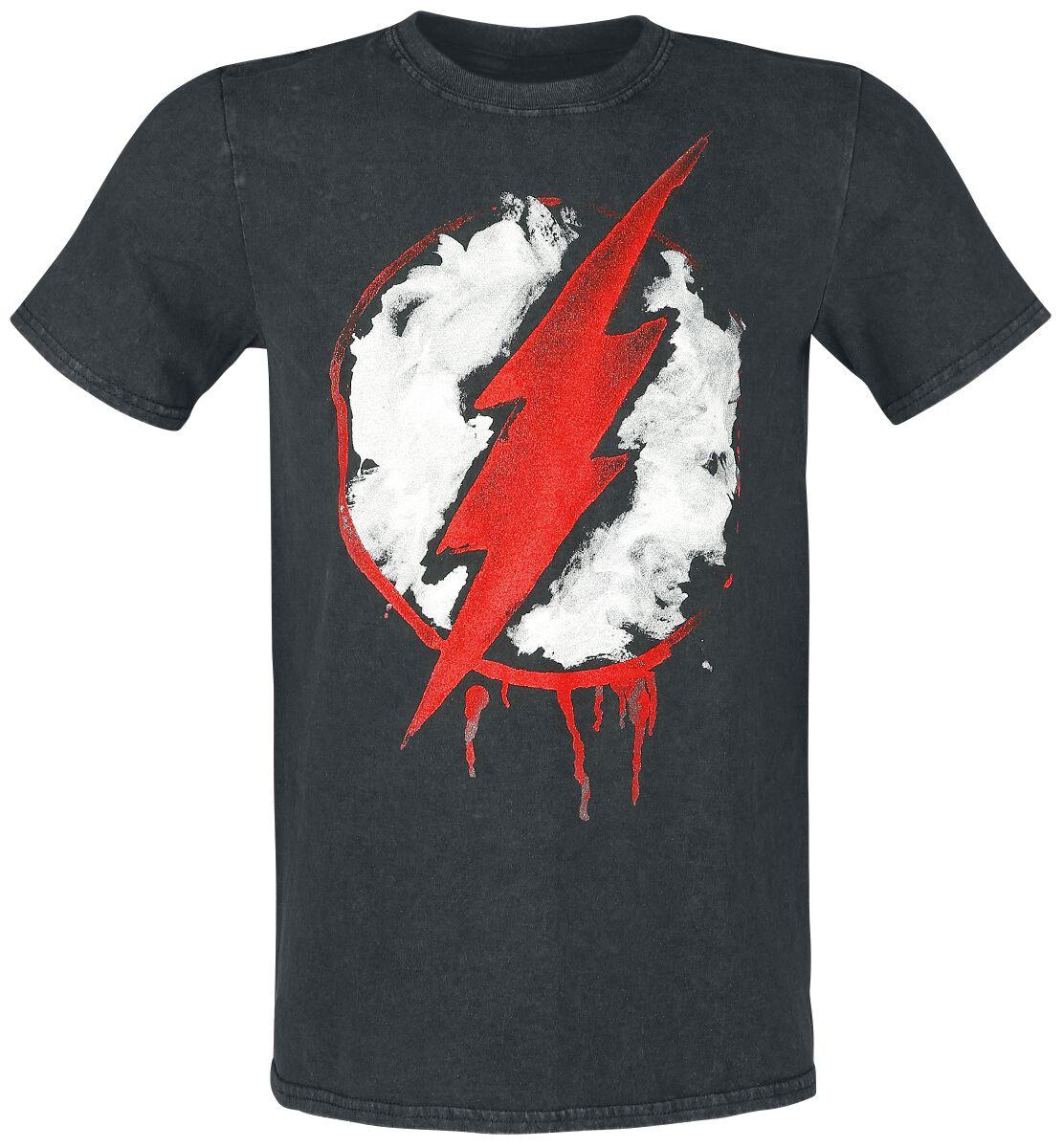 Merch dla Fanów - Koszulki - T-Shirt The Flash Logo T-Shirt ciemnoszary (Anthracite) - 361358