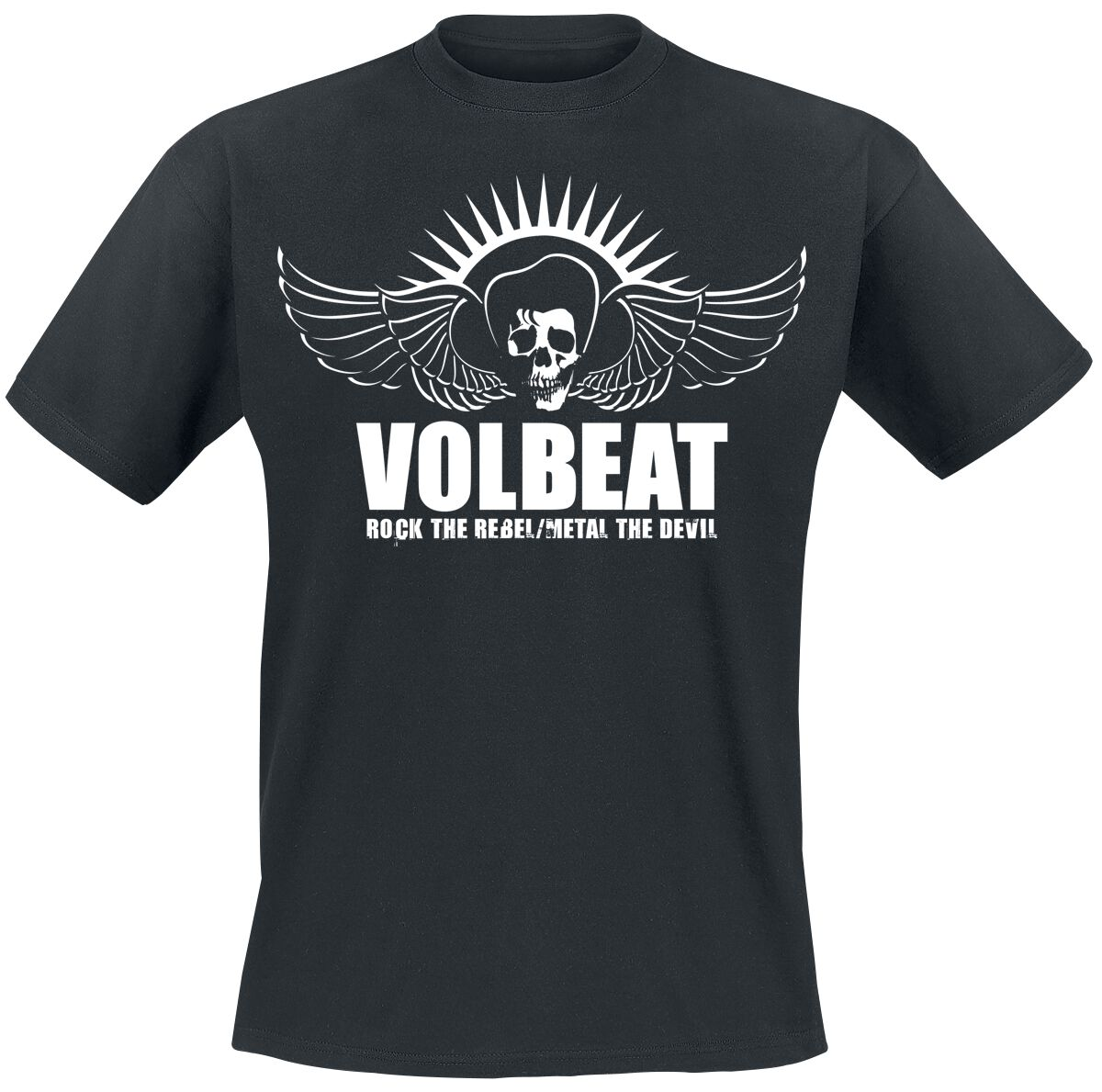 Image of   Volbeat Rock The Rebel T-Shirt sort