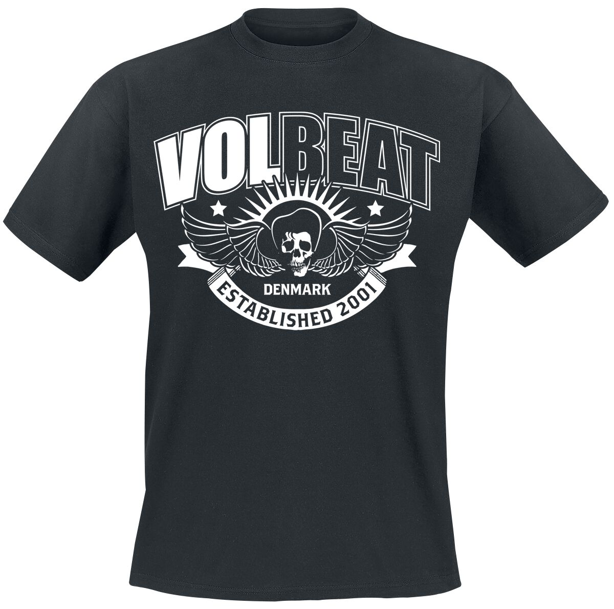 Image of   Volbeat Skullwing Ribbon T-Shirt sort