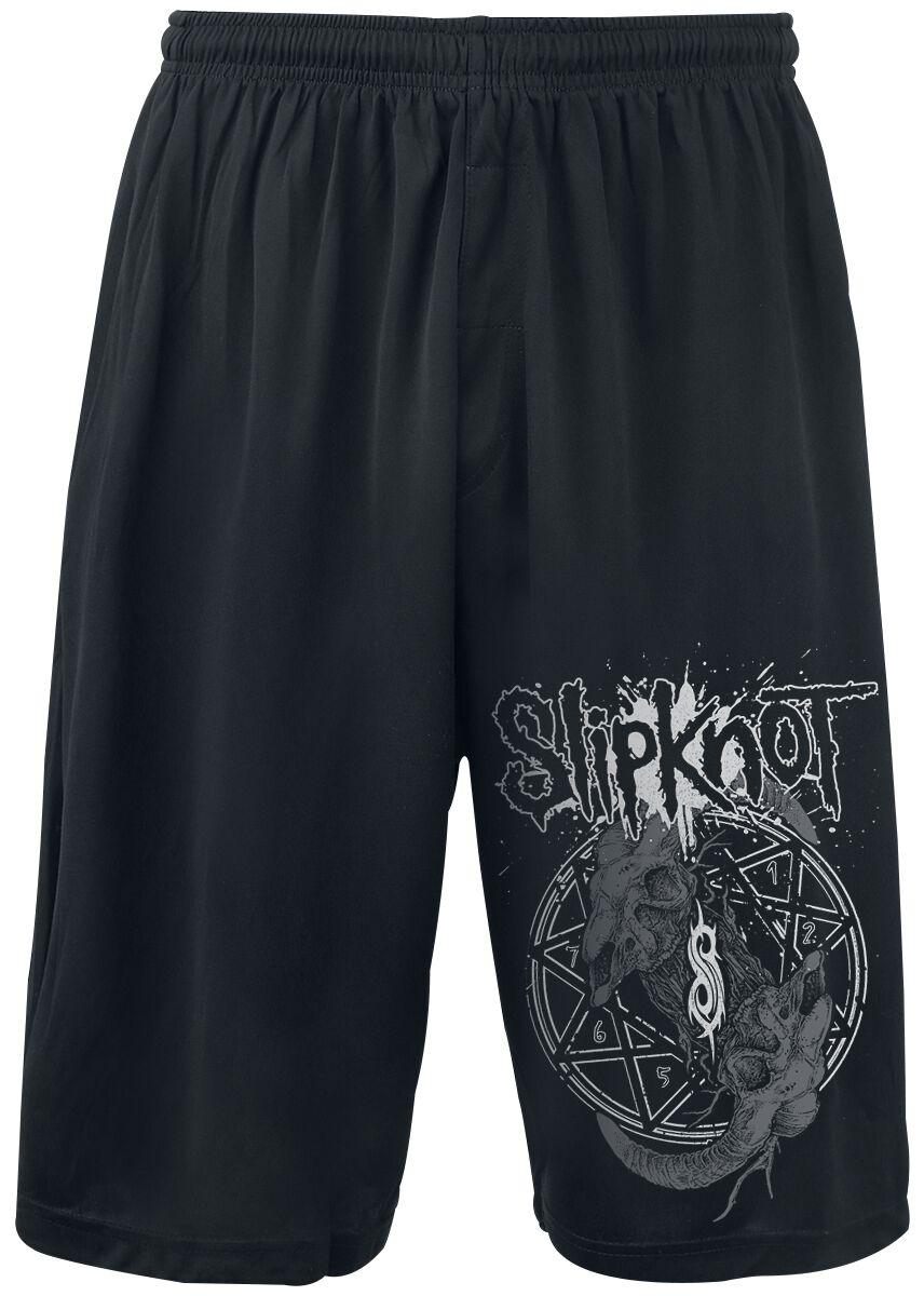 Image of   Slipknot Horned Logo Shorts sort
