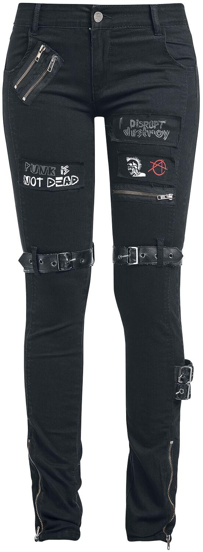 Image of   Fashion Victim Punk Jeans Girlie bukser sort