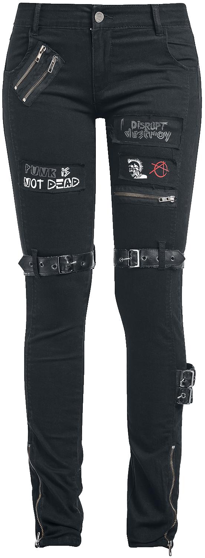 Fashion Victim Punk Jeans Spodnie damskie czarny