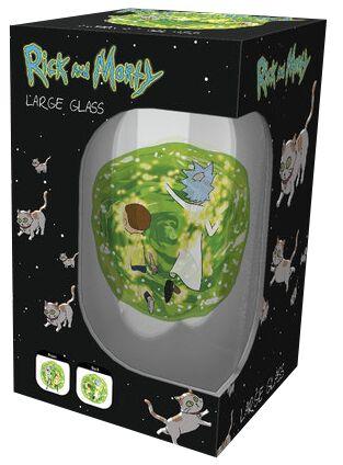 Image of   Rick And Morty Portal Ølglas gennemsigtig