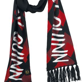 Harley Quinn Diamond Écharpe noir/rouge