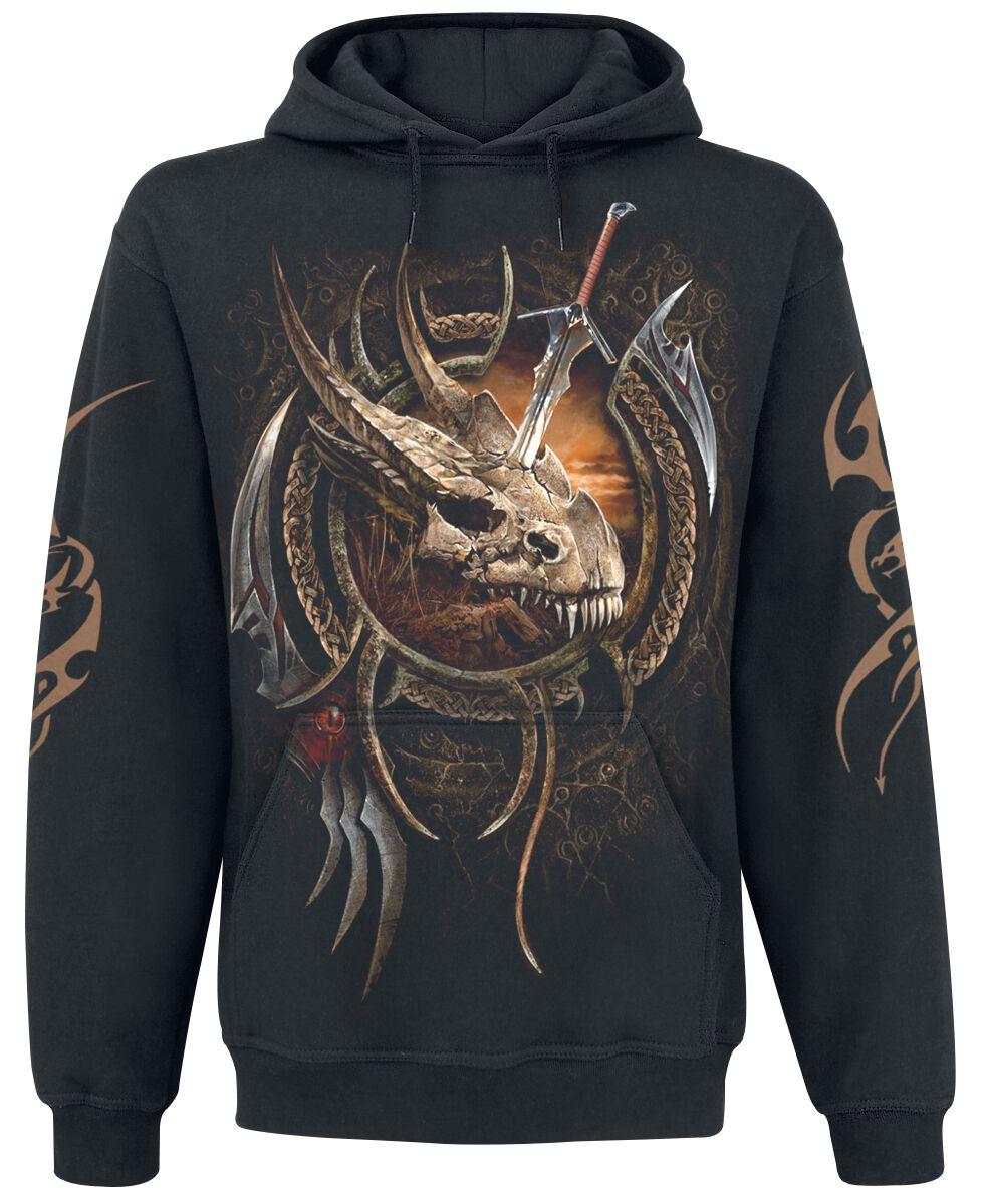Image of   Spiral Centaur Slayer Hættetrøje sort