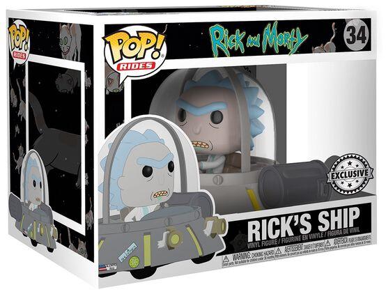 Image of   Rick And Morty Ricks Ship Vinyl Figure 34 Samlefigur Standard