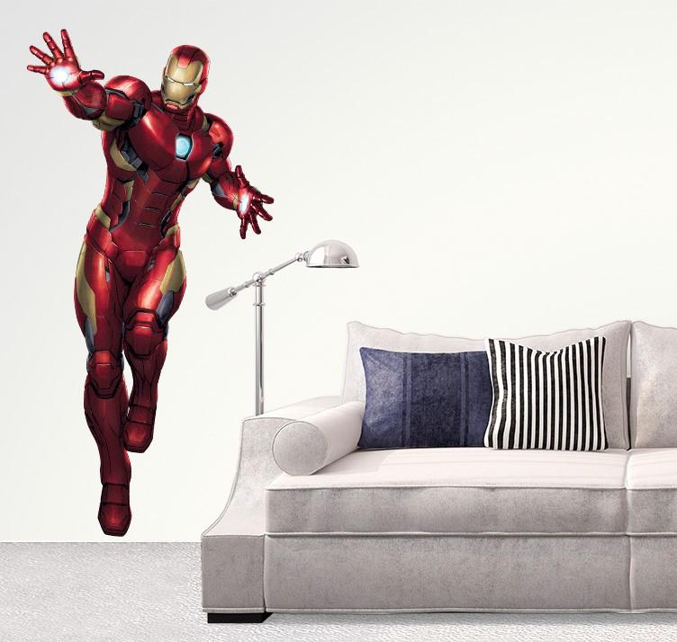 Iron Man Iron Man Vægsticker multifarvet