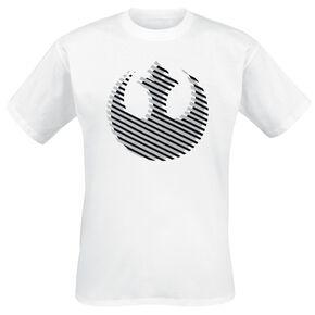 Star Wars Logo Rebel T-shirt blanc