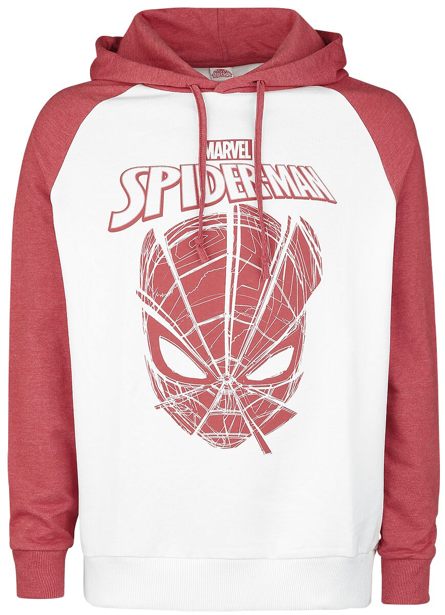 Image of   Spiderman Authentic Web Head T-Shirt hvid-rød