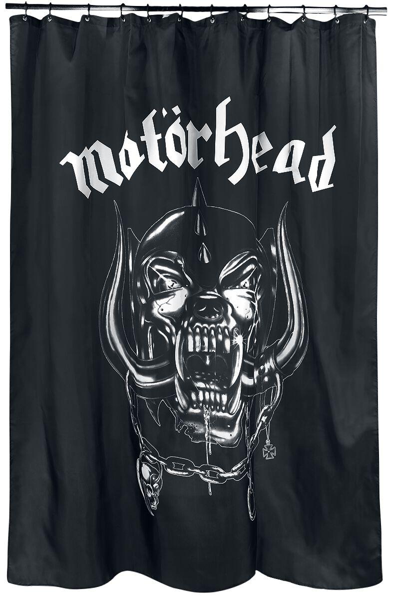 Motörhead Warpig Duschvorhang schwarz/weiß