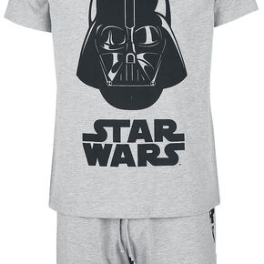 Star Wars Dark Vador Pyjama gris clair chiné