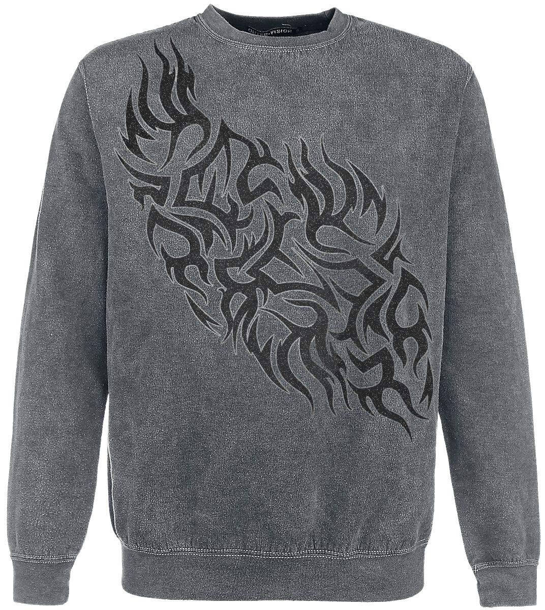 Image of   Outer Vision Flames Tattoo Sweatshirt grå