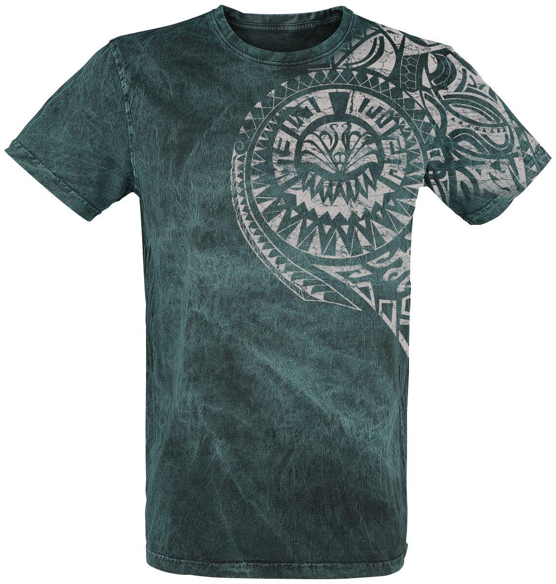 Image of   Outer Vision Burned Tattoo T-Shirt blå
