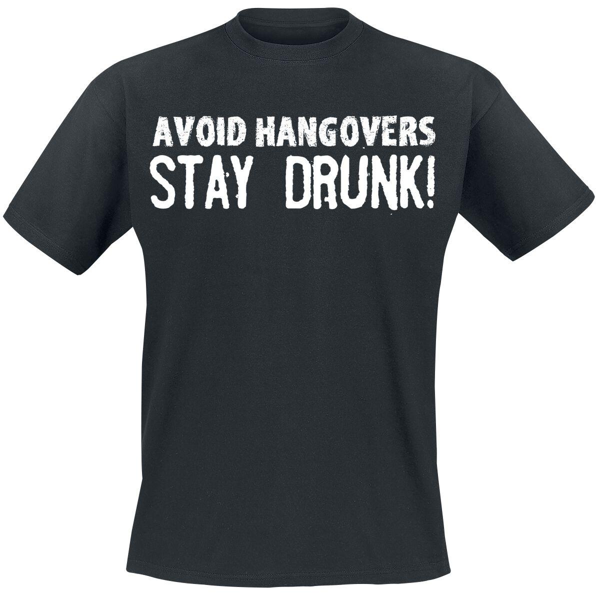 Fun Shirts - Koszulki - T-Shirt Avoid Hangovers T-Shirt czarny - 361935