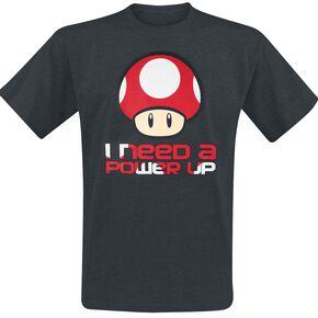 Super Mario Power Up T-shirt gris chiné