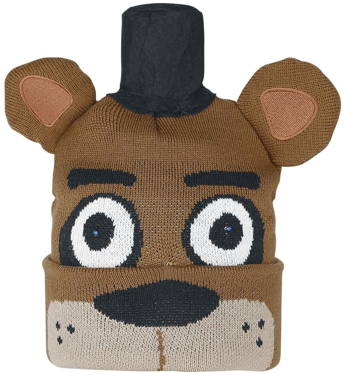 Merch dla Fanów - Czapki i Kapelusze - Beanie Five Nights At Freddy's Freddy With LED Eyes Beanie wielokolorowy - 361991