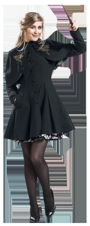 Harry Potter Mischief Managed Płaszcz damski czarny