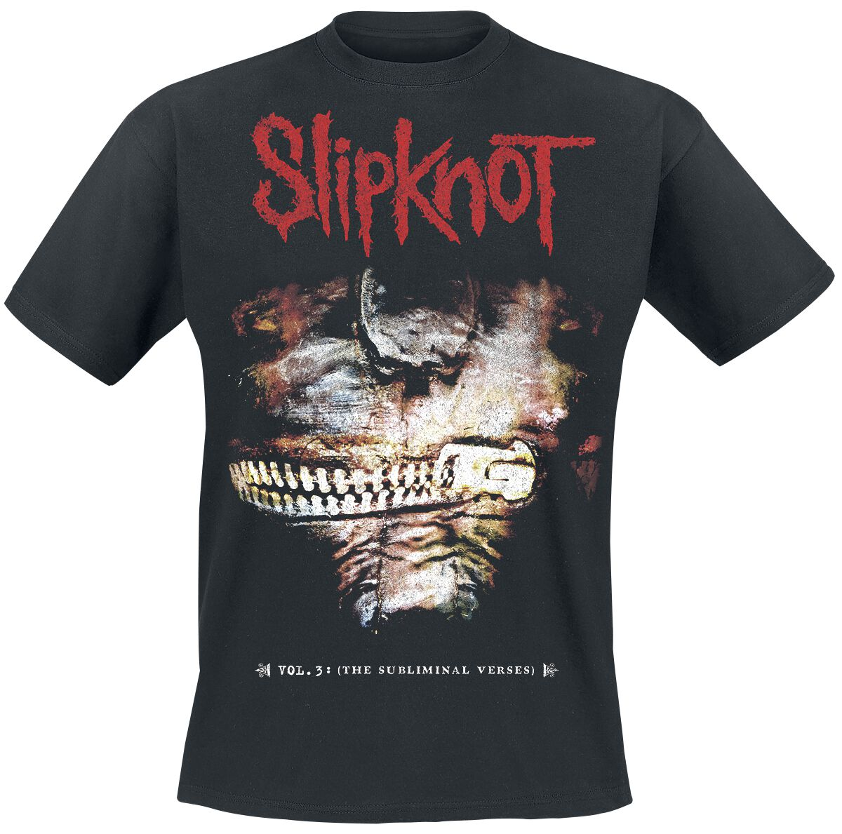 Image of   Slipknot Vol.3: The subliminal verses T-Shirt sort