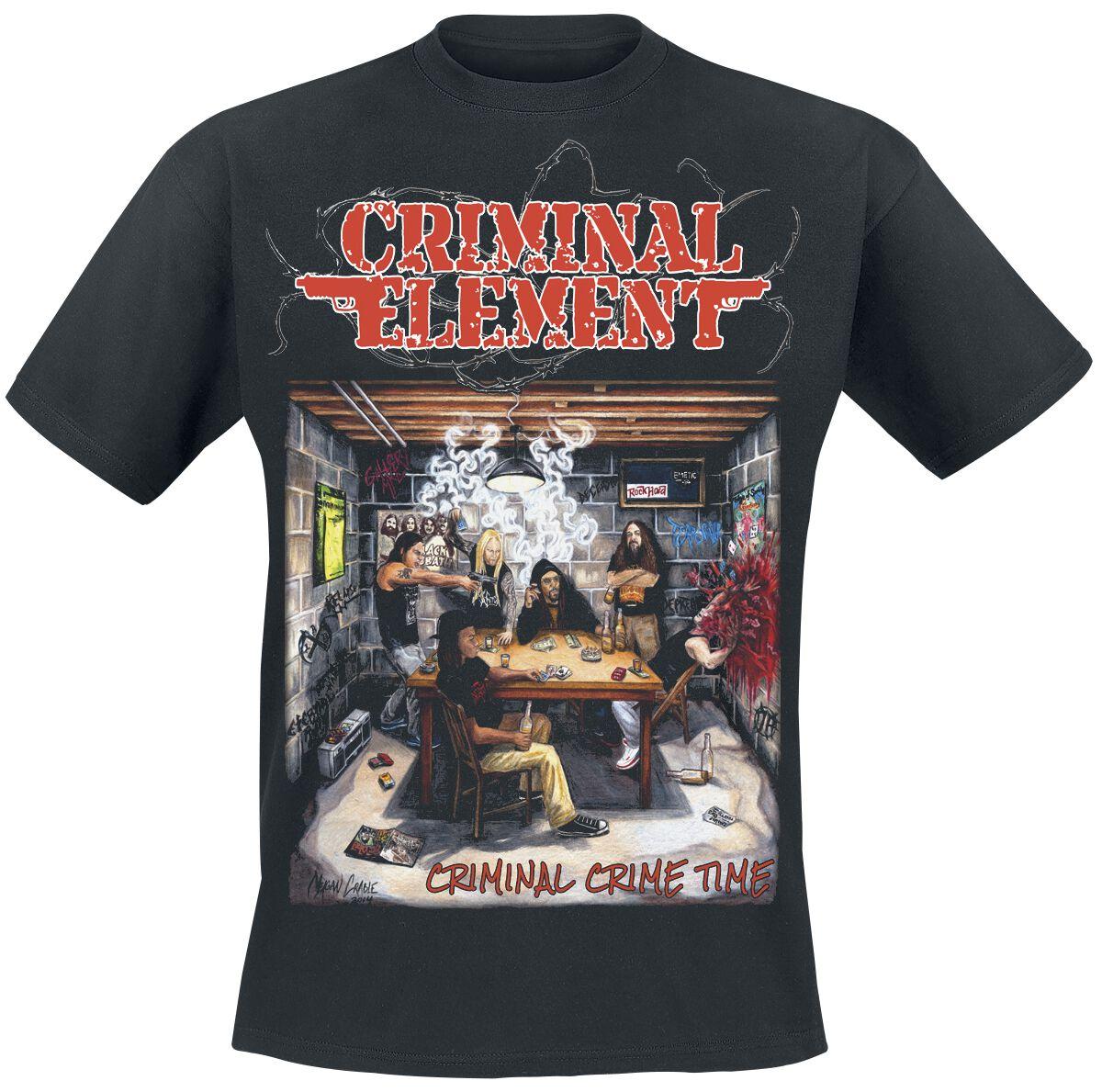 Zespoły - Koszulki - T-Shirt Criminal Element Criminal crime time T-Shirt czarny - 362089