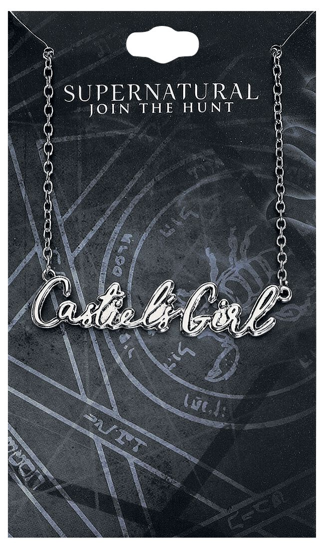 Image of   Supernatural Castiel's Girl Halskæde sølvfarvet