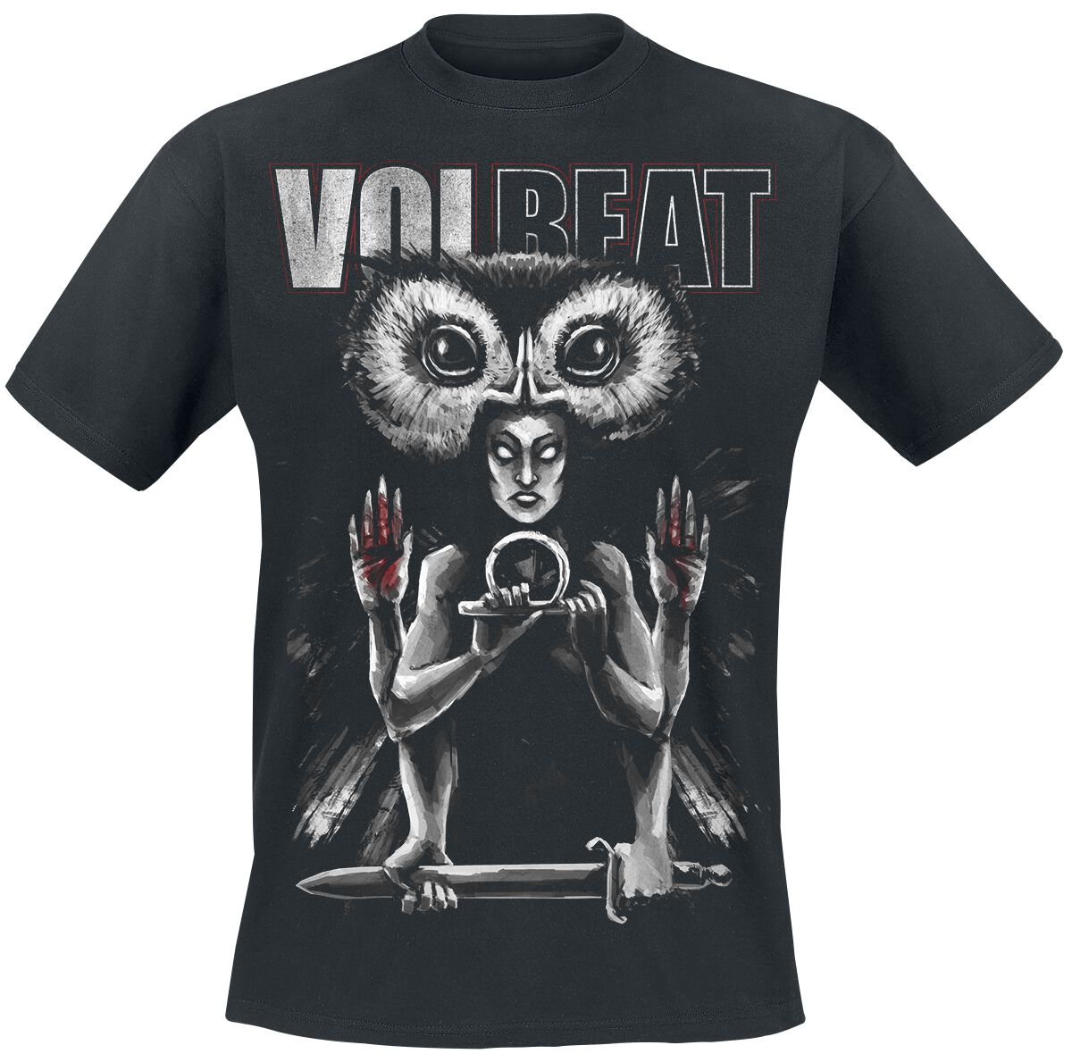 Image of   Volbeat Ishtar T-Shirt sort