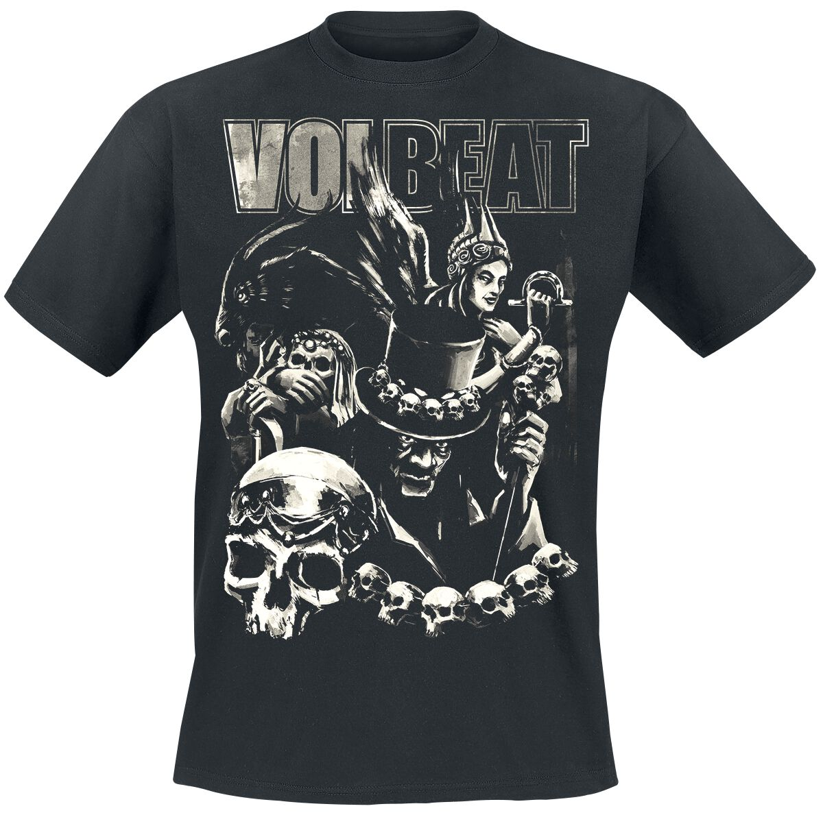 Image of   Volbeat Black Collage T-Shirt sort
