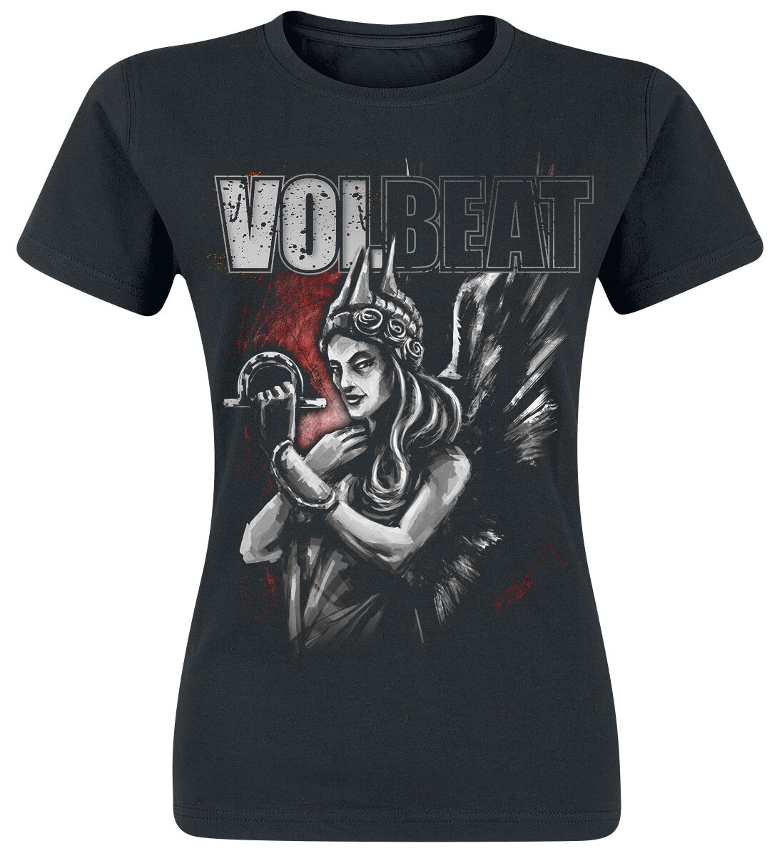 Image of   Volbeat Goddess Of War Girlie trøje sort