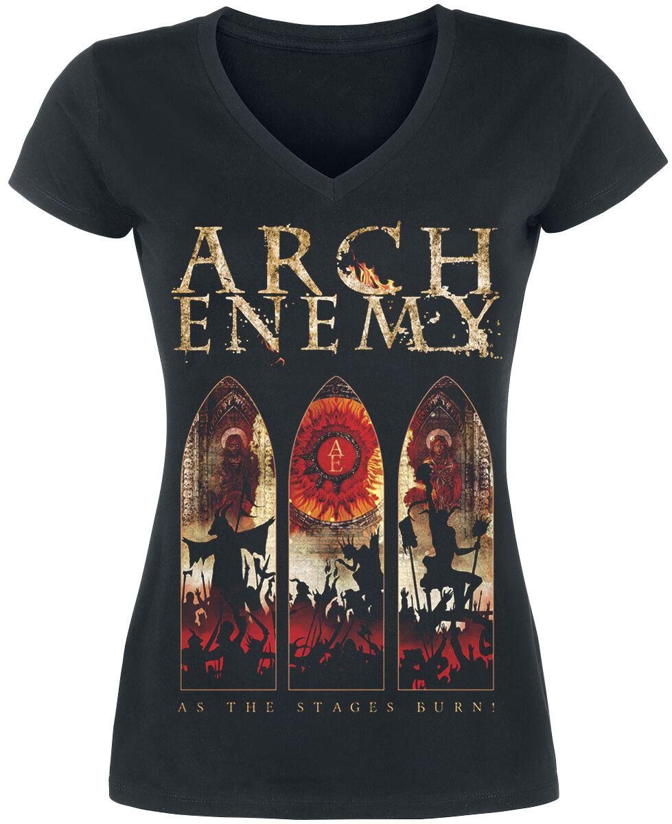 Zespoły - Koszulki - Koszulka damska Arch Enemy As The Stages Burn Koszulka damska czarny - 362217